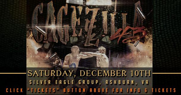 CageZilla 43, Saturday, December 10, 2016