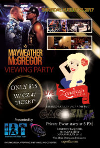 CZ47 Mayweather Vs McGregor Viewing After-Party- cagezilla.com