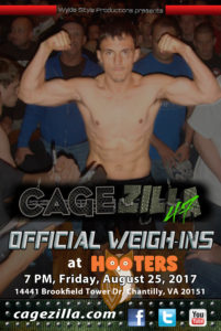 CageZilla 47 Official Weigh-Ins- cagezilla.com